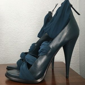 Givenchy Dark Teal Heels